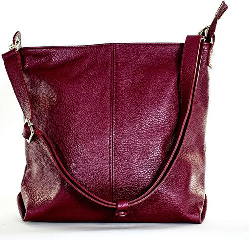 5d6ce31daf14d6 Echt Leder Tasche Damentasche Schultertasche Shopper Ledertasche bordeaux  MC103376