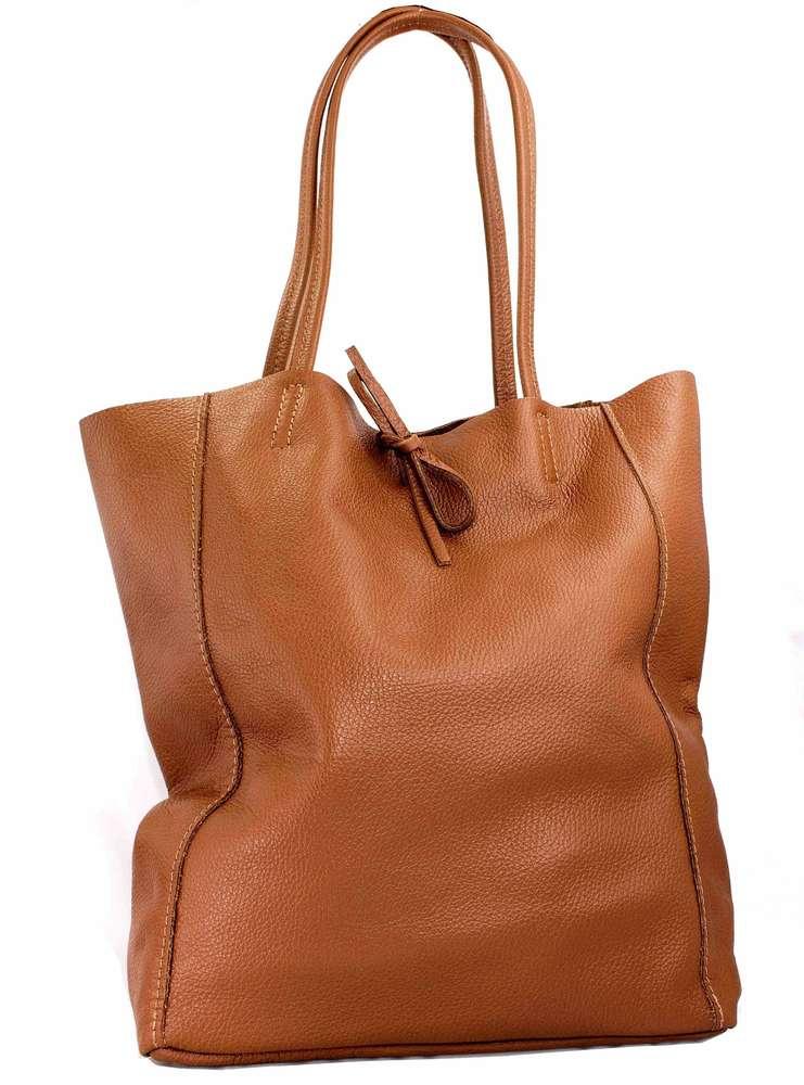 d736375e716df Echt Leder Tasche Damentasche Schultertasche Shopper Ledertasche cognac  MC543276